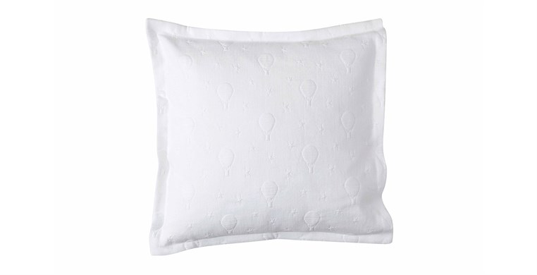 Balloons White Cotton Cushion